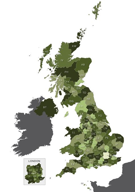 map uk vector map of uk postcodes royalty free editable vector map