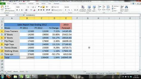 Begin A New Workbook Using Sales Report Template Excel 2016 Excel 2013 Tutorial For Noobs Part 11 How To Create A
