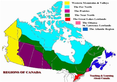 regional map of canada physical map of canada with regions