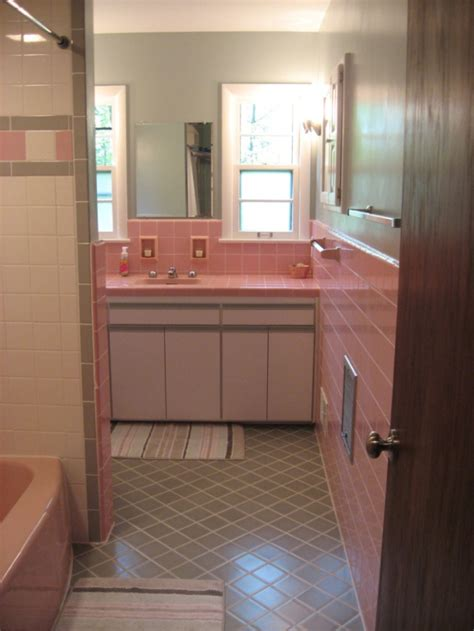retro pink bathroom historic photos of valerie s 1954 milwaukee home and her