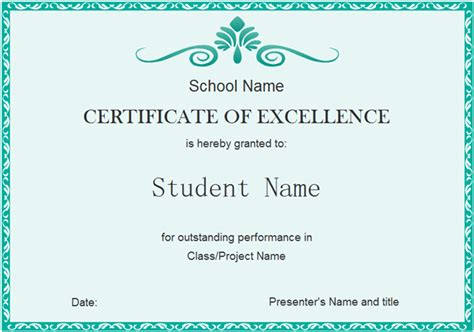 template of a certificate how to create looking certificate