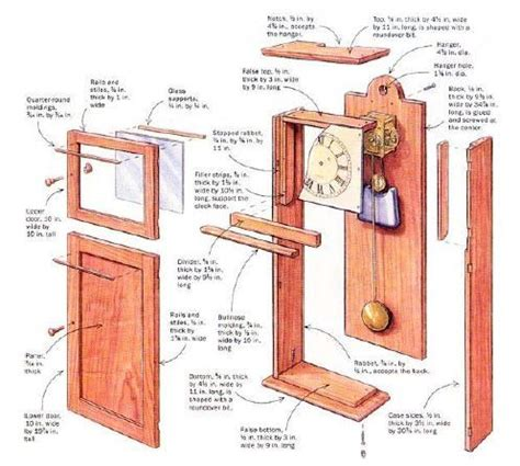 wall clock plans woodworking wall clock woodworking plans woodworking projects plans