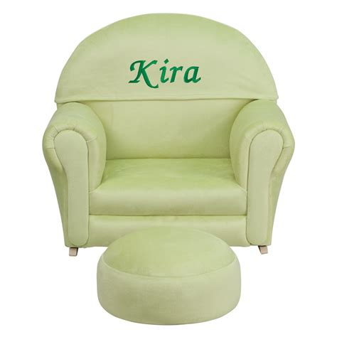 toddler chair and ottoman kids green microfiber rocking chair and ottoman