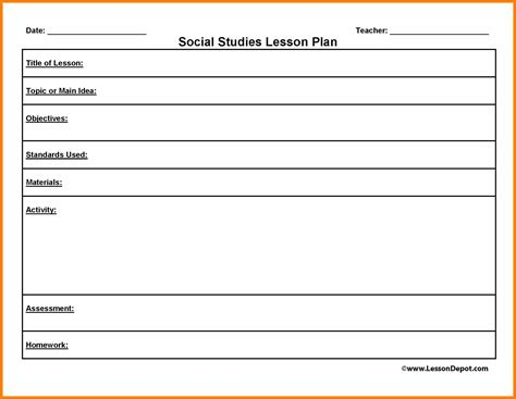 social skills lesson plan template free printable lesson plan template popisgrzegorz