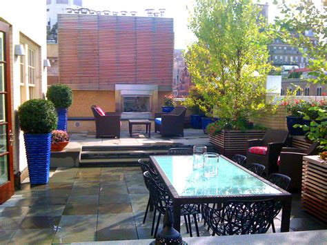 The Patio Nyc by Nyc Terrace Design Roof Garden Bluestone Paver Patio