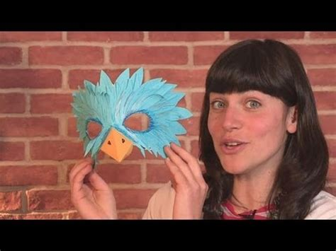 how to make a bird mask youtube