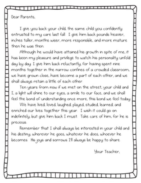 appreciation letter to kindergarten from parents teach it with class april 2012