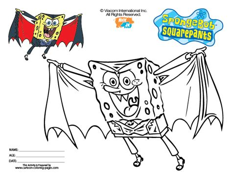 coloring pages spongebob halloween sponge bob halloween coloring pages
