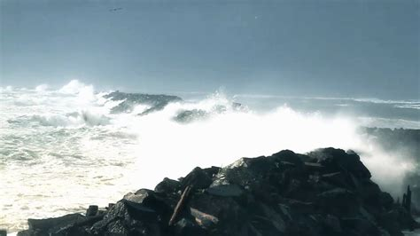columbia river south jetty during a huge storm youtube