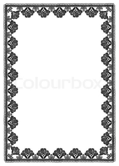 pattern with frame frame of floral pattern lace stock photo colourbox