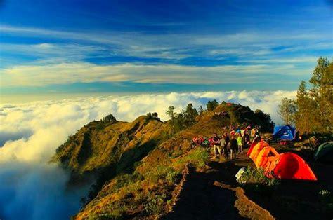 Kaos Gunung Rinjani Lombok 1 gunung rinjani 1 dari 7 puncak tertinggi di indonesia