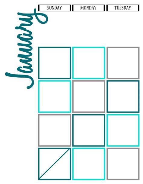 printable journal calendar 2016 january calendar printable for journal calendar while he