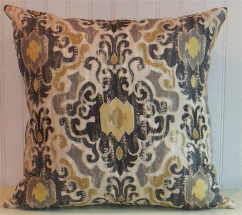 Grey And Gold Decorative Pillows Grey Black Ikat Pillow Cover Designer Accent Pillow