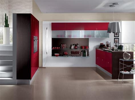 desain dapur nuansa merah desain dapur modern warna merah rancangan desain rumah