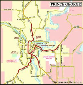 map of prince george northern bc columbia