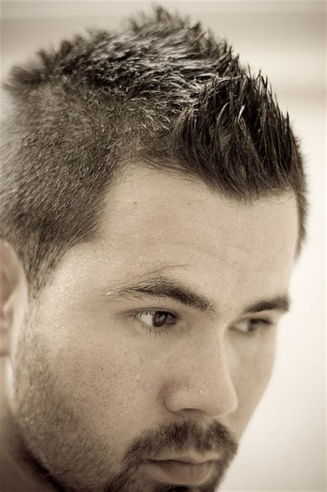 short spiked fohawk mens image gallery faux mohawk