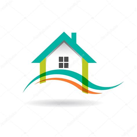 Lighthouse House Plans Wave In House Logo Stock Vector 169 Deskcube 63913959