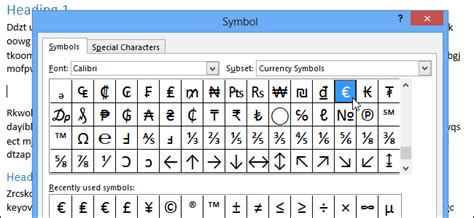 how to get the section symbol in word how to use symbols in word 2013