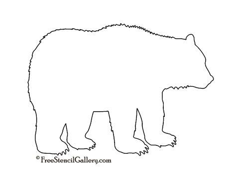 free printable animal templates bear silhouette stencil free stencil gallery