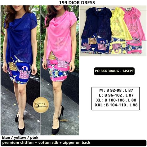 Po Dress Import Quality Premium A41906 dress supplier baju bangkok korea dan hongkong premium quality import thailand