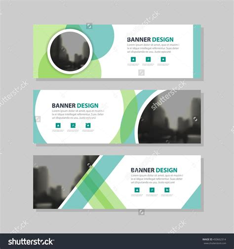 Eco Green Abstract Circle Corporate Business Banner Template Horizontal Advertising Business Business Header Template