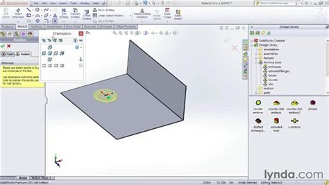solidworks tutorial forming tool using forming tools