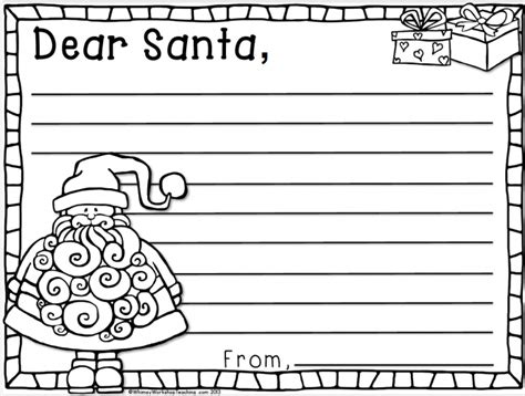 dear santa template kindergarten letter kindness whimsy workshop teaching