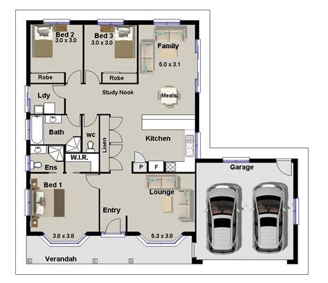 plans for 3 bedroom houses 3 bedroom house plans for sale homestead double garage real estate ebay
