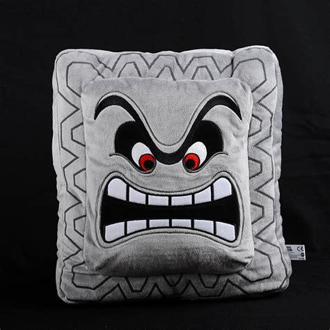 Thwomp Pillow by Thwomp Plush Pillow Mario Tokyo Otaku Mode Shop