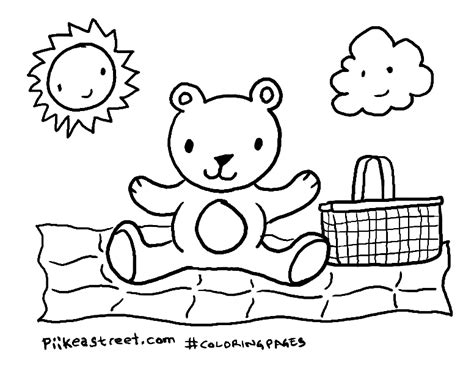 3 teddy bears free colouring pages