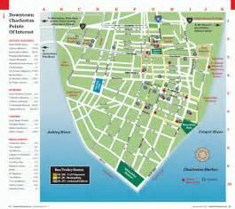 downtown map charleston sc maps traveler mag