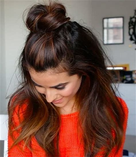 hairstyles with half bun 5 ways to wear half up topknot bun without looking 12