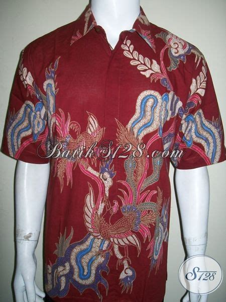 Kemeja Batik Pria Batik Tulis Lengan Pendek Warna Soft Baru Code B L kemeja batik tulis istimewa baju batik pria lengan pendek warna merah keren til mewah