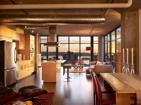 modern lofts modern urban green loft design mosler lofts digsdigs