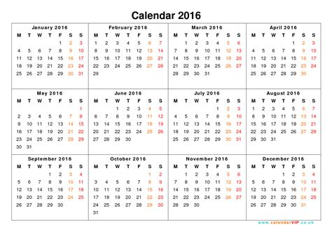 printable one year calendar calendar template 2017