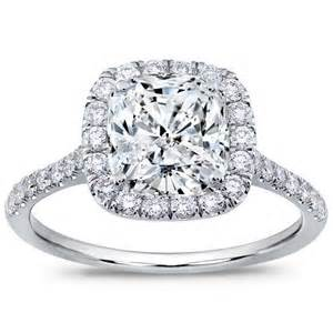 Settings For Cushion Cut Diamonds Cushion Cut Cushion Cut In Halo Setting