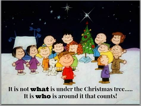 charlie brown christmas its not whats under the tree quote pin by kristie on its the most wonderful time of the year pi