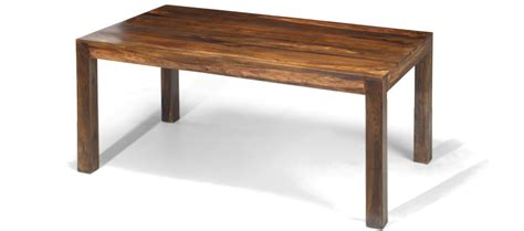 cube sheesham 160 cm dining table quercus living