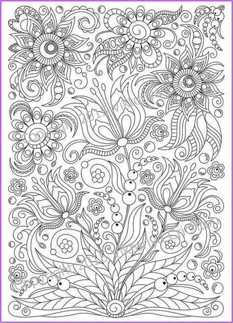 flower doodle coloring pages coloring page pdf printable doodle flowers by zentanglehouse