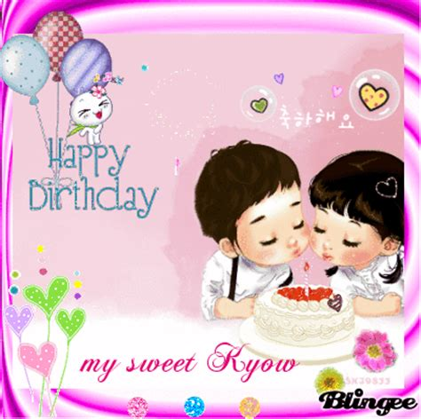 my sweet happy birthday my sweet kyow picture 98995259 blingee