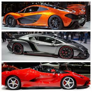Lamborghinis And Ferraris One Mclaren Lamborghini Or Gear Heads