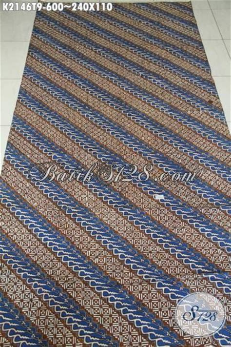 Batik Kombinasi Katun Coklat batik parang halus kombinasi warna biru dan coklat produk