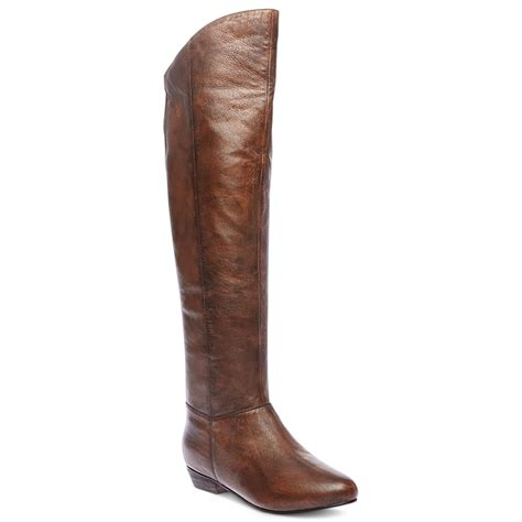 steve madden creation boots in brown leather lyst