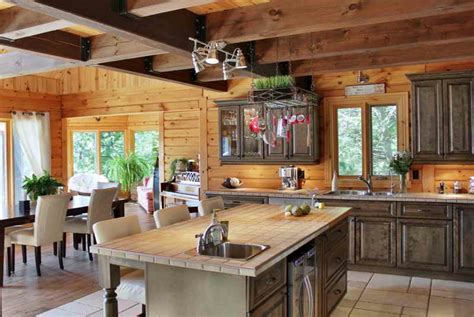 comment r駭 une cuisine en ch麩e transformer cuisine rustique cuisine moderne le bois