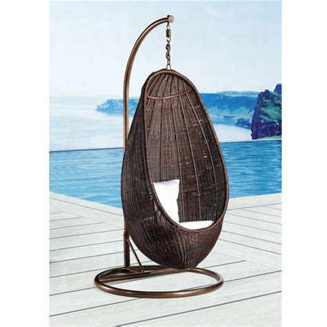 hanging wicker chair rattan hanging chair with stand
