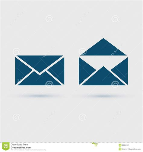 format eps vector email icon envelope vector illustration stock image