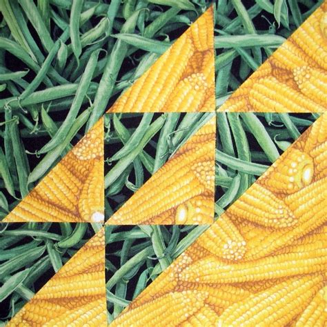 Corn Quilt by Corn And Beans Quilt Block Corn