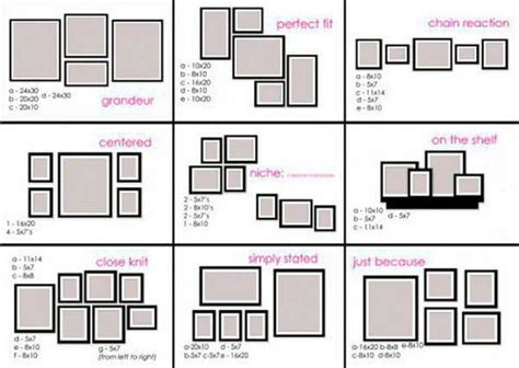 how to hang a picture frame 78 layouts for hanging photographs and artworks on empty