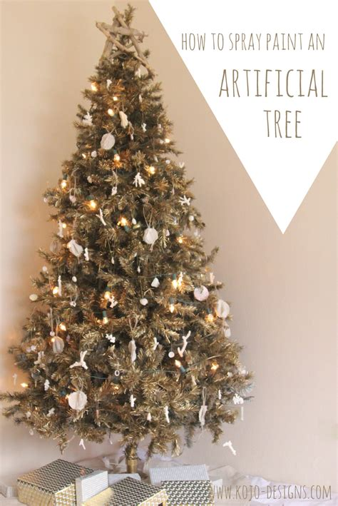 spray painted christmas trees how to spray paint an artificial tree