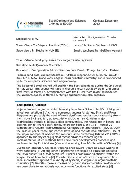 cover letter phd position phd position is available in theoretical chemistry at the